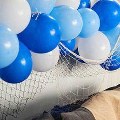 Guirnalda de globos inspirada en el océano