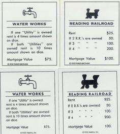 Original Monopoly Property Cards Printable Monopoly Cards Printable Cards Card Template