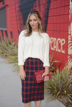 plaid + knits