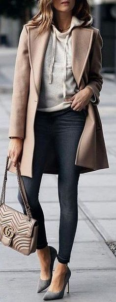 #winter #outfits beige coat - Sale! Up to 75% OFF! Shop at Stylizio for women's and men's designer handbags, luxury sunglasses, watches, jewelry, purses, wallets, clothes, underwear