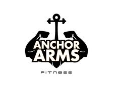 logo design for Anchor Arms Fitness by the logo boutique Best Logo Design, Custom Logo Design, Custom Logos, Marathon Logo, Personal Training Logo, Best Logo Maker, Logo Basketball, Sports Logo, Cool Logo