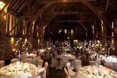Fairy lights in the barn