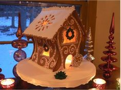 Art of the Gingerbread House Explained | The Weston Easton Daily Voice This one is so different! Pretty pretty