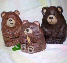 These are paper mache, but inspiration for needle felting shape. So cute