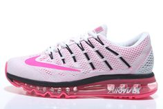 watch 286bd 96a62 Womens Nike Air Max 2016 Running shoes White Black Pink Sneakers 806772-106