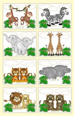 Safari Nursery Prints Wall Art Baby Boy Girl Jungle Animals Noahs Ark Gift Decor #decampstudios