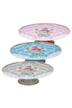 Show details for Floral cake stand khaki