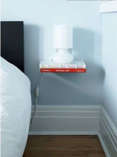 a simple life afloat: Invisible Bookshelf  nightstand