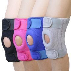 1pc Elastic Adjustable Knee Support Brace Kneepad Outdoor Sports Knee Pads Safety Guard Strap Free Size