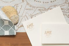 Amie Bakery on Behance - love the retro feeling logo, the map illustration and the brand pattern.