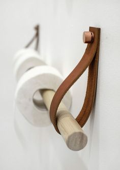 DIY Inspiration | Leather Toilet Paper Holder | Interior AK,Courtesy of INT2architecture