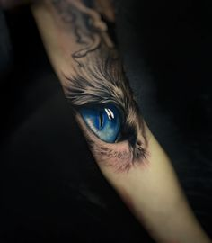 Eye tattoo by Daniel Bedoya
