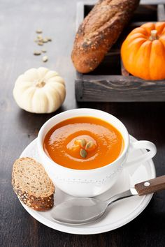 Polish pumpkin soup is hearty and the perfect dish for any holiday, such as Thanksgiving! Even though Pumpkin came from the Americas to Europe, Poles still have their own version of pumpkin soup that is enjoyed today in Poland. Fall Recipes, Whole Food Recipes, Soup Recipes, Great Recipes, Cooking Recipes, Favorite Recipes, Cooking Stuff, Pumpkin Recipes, European Dishes