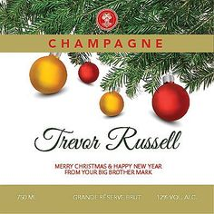 Wine and champagne online. Personalised champagne, mixed cases, wedding service, wine vouchers and delivery to Ireland. Merry Christmas And Happy New Year, Champagne, Wine, Yellow
