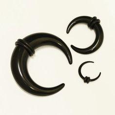 Dehnsichel / Expander aus schwarzem Acryl (PMMA)