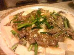かなるンちの塩麹牛肉中華豆腐の画像