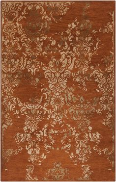 Surya's Banshee Collection Pantone colors: Rust Red (18-1354), Mossy Gold (17-1028), Wheat (14-1118). http://www.burkedecor.com/collections/red-rugs/products/banshee-collection-100-new-zealand-wool-area-rug-in-rust-red-and-gold-design-by-surya#tab3