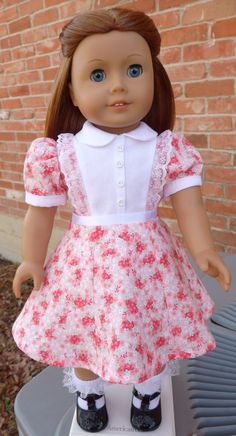 "18"" Doll Clothes Historical 1940's Style Spring Dress Fits American Girl Molly, Emily, Kit, Ruthie"