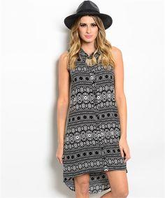 Tribal print hi-low dress https://www.wholesalefashionsquare.com/product-p/cn224535.htm