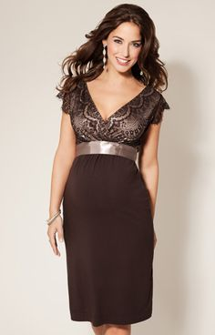 Our Best Selling Rosa Short Maternity Dress Is Now Available In Mouth Watering Mocha