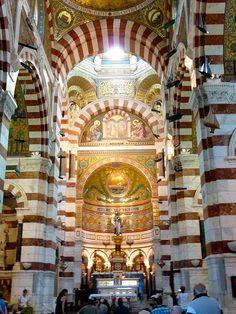Intérieur de la Basilique de Notre Dame de la Garde