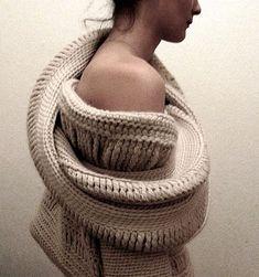 Fashion garment by Jillian Carrozza fashion couture knitted garments textile art to wear knitting designer to watch