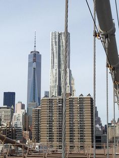 One WTC desde Brooklyn Bridge, NYC. Nueva York