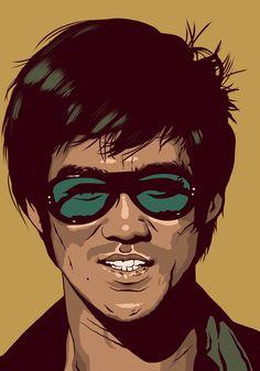 Portrait Cartoon, Vector Portrait, Portrait Art, Bruce Lee Art, Bruce Lee Martial Arts, Bruce Lee Pictures, Asian Wallpaper, Martial Artist, Portrait Illustration
