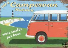 Campervan Holiday art poster print by Martin Wiscombe