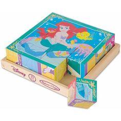 Melissa & Doug Disney Princess Wooden Cube Puzzle - Walmart.com