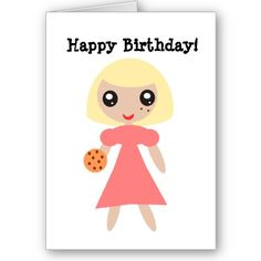 Happy Birthday Cookie Card by AbundanceLoveTrip  $3.05