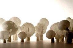 Mushroom Ghost Lanterns