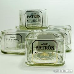Patron Tequila Bowl - neat idea for a man cave/bathroom/garage. Could be done with any type of liquor bottle.