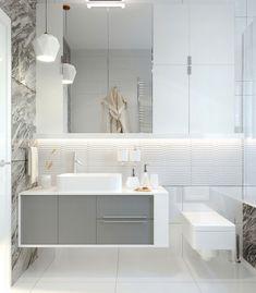 "Apartament 3 camere - Complex ""Nordis"" București - Creativ-Interior Alcove, Interior, Minimalism, Bathtub, Bathroom, Modern, Design, Granite Counters, Standing Bath"