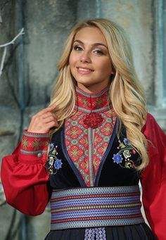 Folk Costume, Costumes, Norwegian Clothing, Norwegian People, Ethnic Fashion, Womens Fashion, Culture Clothing, Cute Designs, Pretty Woman