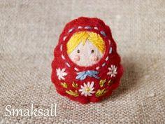 """Bague enfant poupée russe  """"jolies petites fleurs""""  : Bague par smaksall sur ALittleMarket"""