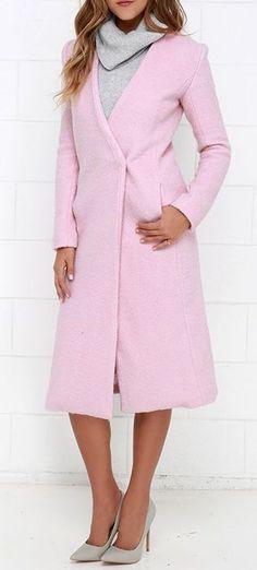 Streetlight Soiree Light Pink Coat