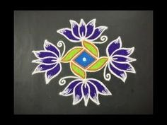 Simple Lotus Flower Rangoli Design with Beautiful Colours & Dots For Festivals & Competitions Rangoli Designs Latest, Simple Rangoli Designs Images, Rangoli Designs Flower, Rangoli Border Designs, Rangoli Patterns, Rangoli Designs Diwali, Rangoli Designs With Dots, Flower Rangoli, Rangoli With Dots