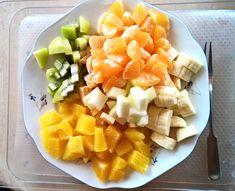 Glückwunsch zu Deiner Gewichtsreduktion Teller, Fruit Salad, Cantaloupe, Mango, Plates, Creative, Food, Food Dinners, Manga