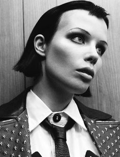 """That perfect hair... i-D Magazine Pre-Spring 2015 """"Don't Be A Rockstar, Be A Legend"""" Feat. Alice Glass by Daniel Jackson #fashion #editorial"""