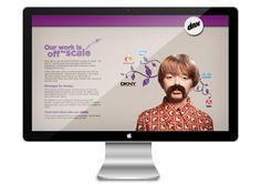 Parallax showcase for DNX Marketing by Paul Clifton, via Behance