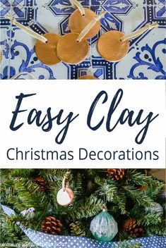 Today I will show you how you can use clay to make Christmas ornaments for your tree. 7 Days of Frugal & Easy Christmas Decorations. Clay Christmas Decorations, Christmas Ornaments To Make, Christmas Bulbs, Merry Christmas, Simple Christmas, Christmas Diy, Clay Handprint, Easy Ornaments, Origami Decoration