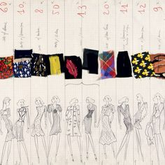 Unearthing rare sketches from @ysl studio!