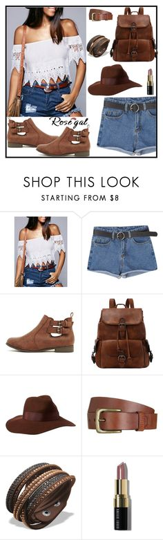 """""""Crochet Off-The-Shoulder Blouse"""" by tlb0318 on Polyvore featuring Will Leather Goods and Bobbi Brown Cosmetics"""