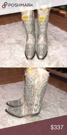 Cow girl boots They are brand new and have some glitter, real girly and super cute! Would make a great Christmas gift Shoes Heeled Boots