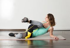 Target your legs from every angle with these creative moves using only body weight and a stretch band