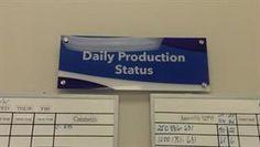 Plexus Standoff Daily Production Status Sign