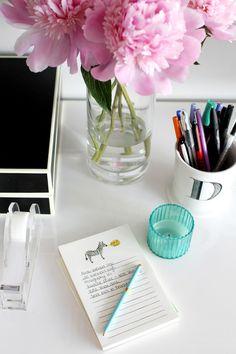 a lady's desk.