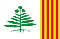 Bandera de Teyá (en catalán y oficialmente Teià) (Fuente: http://www.comprarbanderas.es/blog/#)