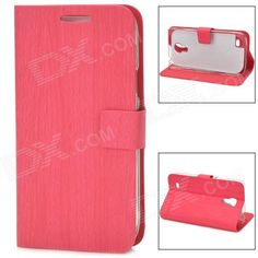 Brand: N/A; Quantity: 1 Piece; Color: Deep Pink; Material: PU Leather; Compatible Models: Samsung Galaxy S4 Mini; Other Features: Personalize your device and protect your it from scratch, dust and shock; Packing List: 1 x Case; http://j.mp/1lkumv9